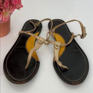 Cute Matte Gold Leather Sandals